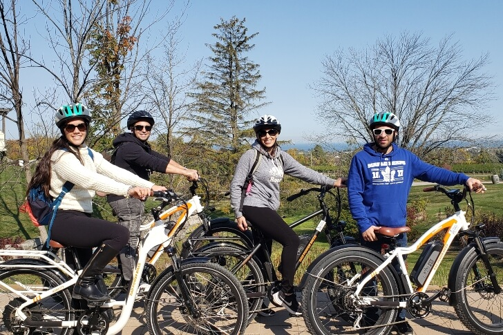 four-people-on-ebikes-in-Beamsville